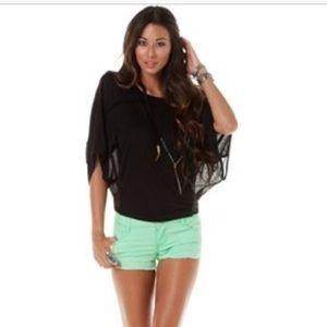 LC LAUREN CONRAD Light green jeans shorts